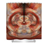 Fire Wheel Shower Curtain