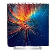 Fire Wind Shower Curtain
