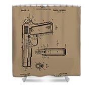 Firearm Handgun Shower Curtain