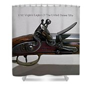 Firearms 1792 Virginia Legion Of The United States Rifle Shower Curtain