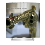 Firearms Gold Colt Single Action Army 45cal Revolver Shower Curtain