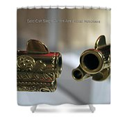 Firearms Pair Of Gold Colt Single Action Army 45cal Revolvers Shower Curtain