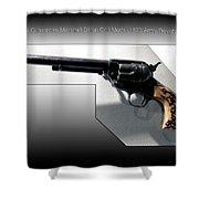 Firearms Tv Gunsmoke Marshall Dillon Colt Model 1873 Army Revolver Shower Curtain