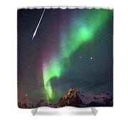 Fireball In The Aurora Shower Curtain