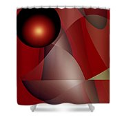Fireball Shower Curtain
