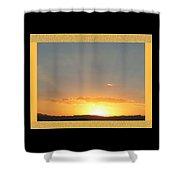 Fireball Sunset Shower Curtain