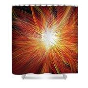 Fire Burst Shower Curtain