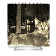 Firece Cat Shower Curtain
