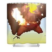 Firedance Shower Curtain
