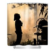Firefighter 4473 Shower Curtain