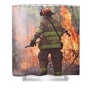 Firefighter 967 Shower Curtain