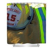 Firefighter Still Life Shower Curtain