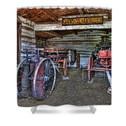Firefighting Engine Company No. 1 - Nevada City Montana Ghost Town Shower Curtain