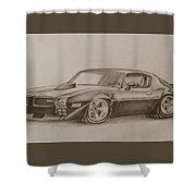 Firefird Shower Curtain