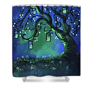 Fireflies Shower Curtain