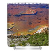 Firehole Lake Yellowstone National Park Shower Curtain