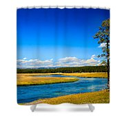 Firehole River Shower Curtain