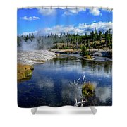 Firehole River Yellowstone Shower Curtain