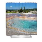 Firehole Spring Geyser Shower Curtain