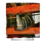 Fireman - Chief Hat Shower Curtain by Mike Savad