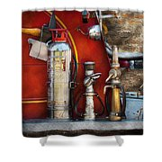 Fireman - An Assortment Of Nozzles Shower Curtain