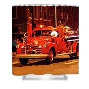 Fireman's Parade No. 3 Shower Curtain