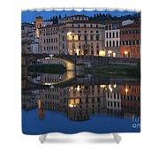 Firenze Blue I Shower Curtain