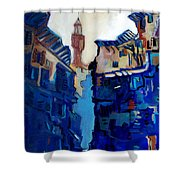 Firenze Street Study Shower Curtain