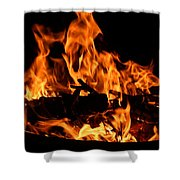 Firepit Shower Curtain