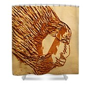 Fires Eyes - Tile Shower Curtain