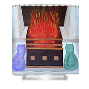Fireside With You Shower Curtain
