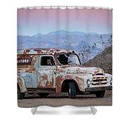 Firestone Truck Shower Curtain