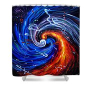 Firestorm Dancing With The Wind  Shower Curtain