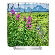 Fireweed In The Foreground Shower Curtain