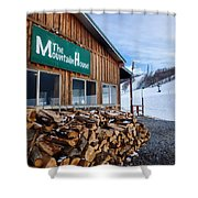 Firewood Ready To Burn In Fire Place Shower Curtain