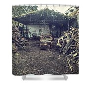 Firewood Shoppe Shower Curtain