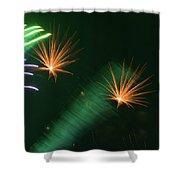 Firework Abstract Shower Curtain