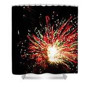 Firework Christmas Sparkle Shower Curtain