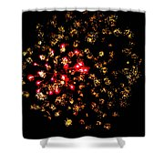 Firework Colors Shower Curtain