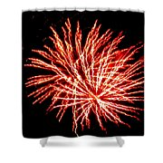 Firework Fireball Shower Curtain
