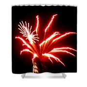 Firework Hibiscus Shower Curtain