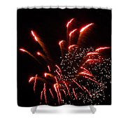 Firework Lights Of The City Shower Curtain
