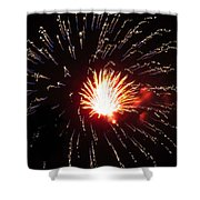 Firework Matchlight Shower Curtain