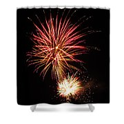 Firework Pink And Gold Shower Curtain