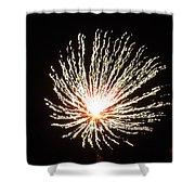 Firework White Fluff Shower Curtain