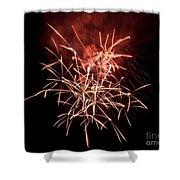 Fireworkd Shower Curtain