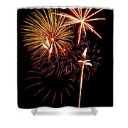 Fireworks 1 Shower Curtain by Michael Peychich