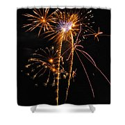 Fireworks 2 Shower Curtain by Michael Peychich