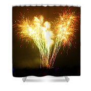 Fireworks 2 Shower Curtain by Oliver Johnston