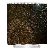 Fireworks 4 With Moon Shower Curtain
